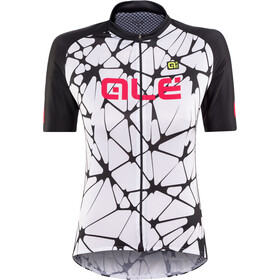 Alé Cycling Solid Cracle Maillot manga corta Mujer, white-black-gerbera